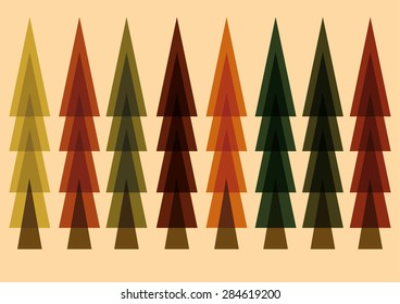 Forest Pine Tree Vector