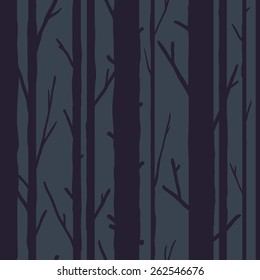 Forest seamless pattern with trees. Seasonal background.
