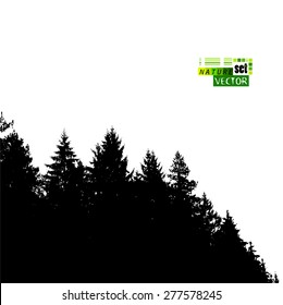 forest silhouette background. Vector