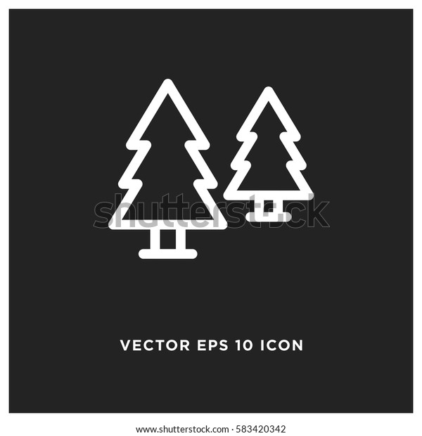 Forest trees vector icon
