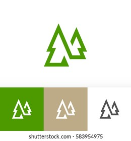 Forest woods icon tree graphic design logo symbol