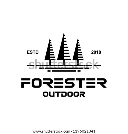 forester outdoor logo design vector stock vector royalty free