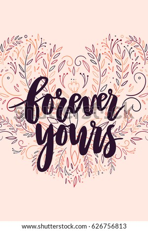Forever Yours Card Hand Drawn ...
