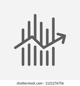 Forex icon line symbol. Isolated vector illustration of  icon sign concept for your web site mobile app logo UI design.