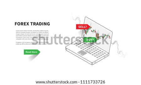 Forex Trading Landing Page Vector Illustration Stock Vector Royalty