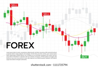 Forex Trading Signals vector illustration. Investment strategies and online trading signals