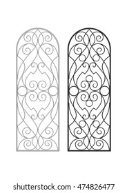 Forged grille for windows