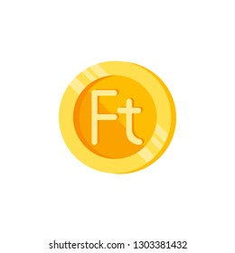 Forint, coin, money color icon. Element of color finance signs. Premium quality graphic design icon. Signs and symbols collection icon for websites, web design