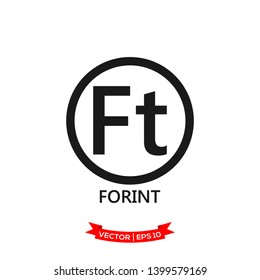 forint icon in trendy flat design, currency icon