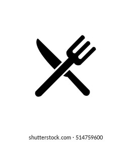 fork cross knife icon restaurant logo