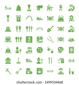 fork icons. Editable 49 fork icons. Included icons such as Cooking, Farmer, Restaurant, Cookbook, Lunch, Rake, Barbecue, Coffee shop, Cutlery, Forklift. fork trendy icons for web.