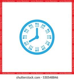 Fork Knife Clock icon vector illustration eps10.