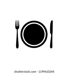 Fork and knife, eat, restaurant, food icon. symbol for web site Computer and mobile vector.