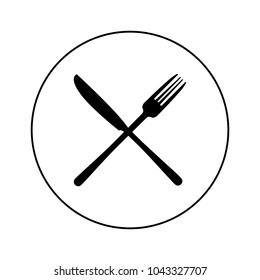 Fork and knife icon, logo