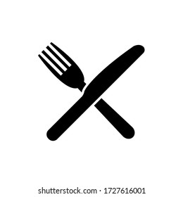 Fork and knife icon, logo isolated on white background