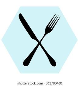 fork and knife - illustration