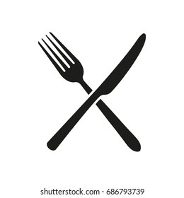Fork, knife. Logo. Vector.