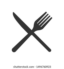 Fork Knife Plate icon template color editable. Fork spoon symbol vector sign isolated on white background illustration for graphic and web design.
