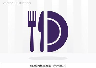 fork knife plate icon vector illustration eps10.