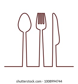Fork, knife and spoon icon. Cutlery and menu, stock vector illustration