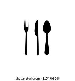 Fork, knife, spoon icon. Equipment icon. Vector icon.