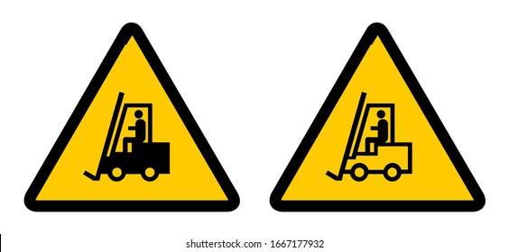 Precaución Fork Lift Trucks operativo Metal Sign salud y seguridad Tamaños Disponibles