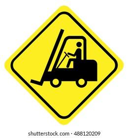 Fork lift trucks sign