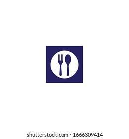 Fork logo template vector icon design