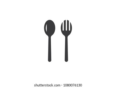 fork and spoon ,food logo Template. Vector illustration.