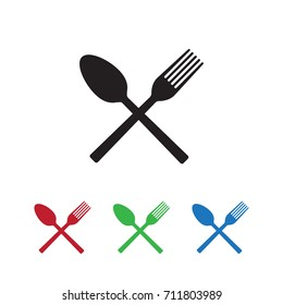Fork and spoon icon vector illustration