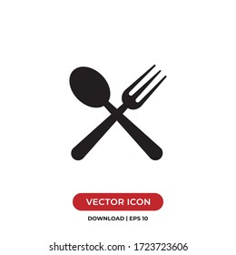 Fork and spoon icon vector. Restaurant sign