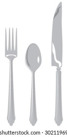 Fork, spoon, knife
