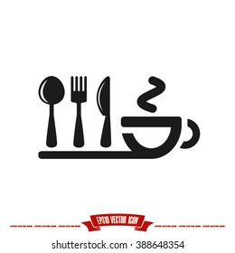 fork spoon knife cup icon vector illustration eps10.