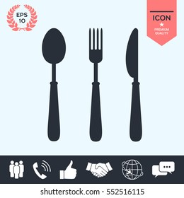 Fork, spoon, knife icon