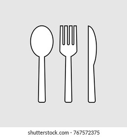 Fork and spoon and knife icon design