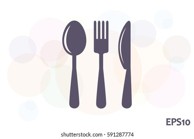 Fork Spoon Knife icon vector illustration eps10.