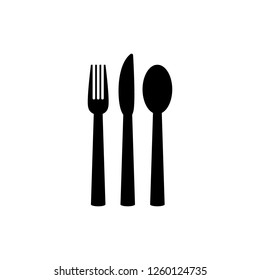Fork, spoon and knife vector icon. Food icon. Restaurant icon