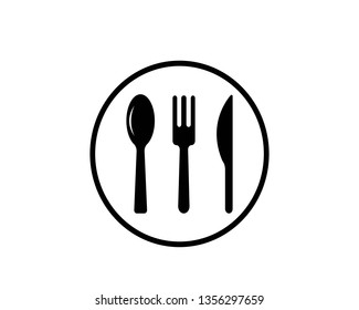 Fork spoon and knife vector isolated - Vector