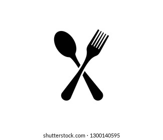 fork and spoon logo vector illustration template