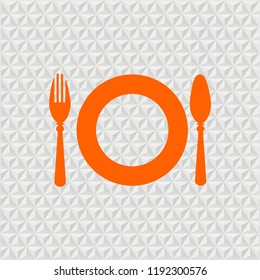 fork spoon plate diner illustration vector icon