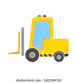 forklift icon. flat illustration of forklift vector icon. forklift sign symbol