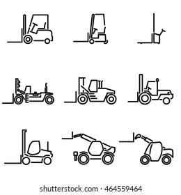 forklift icon set