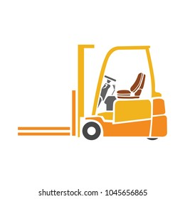 forklift icon, warehouse forklift, power lifting symbol, fork lift illustration