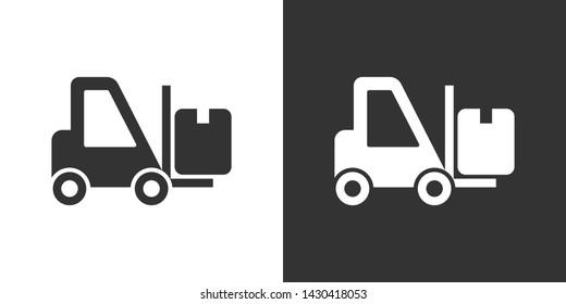 Forklift Illustration Symbol Icon Vector