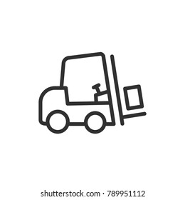 forklift. Line with Editable stroke