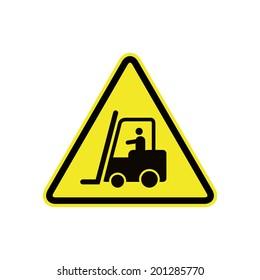 forklift in operation sign