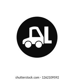 Forklift rounded icon