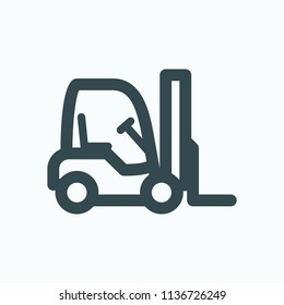 Forklift truck icon, mini stock forklift vector icon