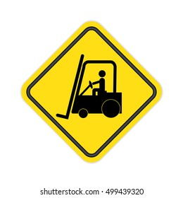 Forklift truck Sign.Vector