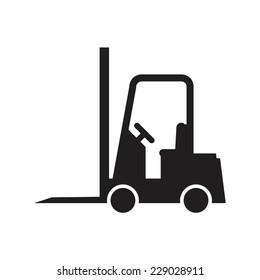 Forklift truck, vector illustration